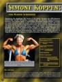 Simone Köppen: Deutsche Bodybuildingmeisterin. Von Manred Bachmann