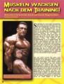 Muskeln wachsen nach dem Traning! Schnellere Fortschritte durch optimierte Regeneration. Von Berend Breitenstein.