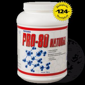 Pro-80 Natural: Biologisch hochwertiges Protein zum Muskelaufbau