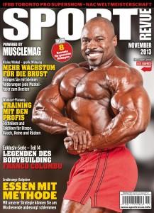 Lee Banks auf der Titelseite der Sportrevue 11/2013