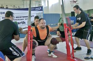 Deutscher Meister im Powerlifting 2013 +120kg: Jewgenij Kondraschow
