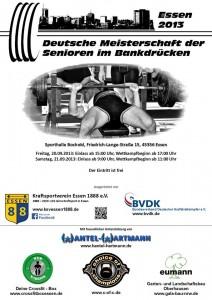 Deutsche Meisterschaft der Senioren im Bankdrücken 2013 in Essen