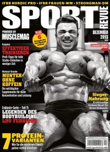 Titelseite der Sportrevue der Dezemberausgabe 2013