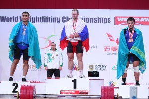 Siegerehrung Klasse -94kg  ( Foto: wwc2013/ LUKASZ GROCHALA / CYFRASPORT)