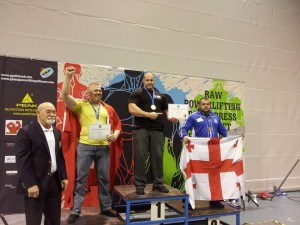 Siegerehrung Klasse bis 125 kg