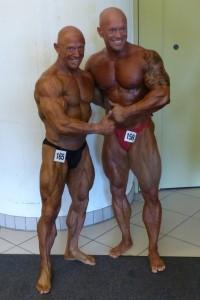 Zwischen Qualifikation und Siegerehrung. Ralf mit Veteran Werner Zenk  (Foto : BMS Sporternährung)