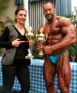 Sergej mit seiner Frau Marina nach der Siegerehrung ( Foto : S.Moser)