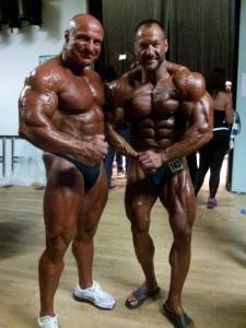 Masters Weltmeister Horst Wetterau und Sergej hinter der Bühne