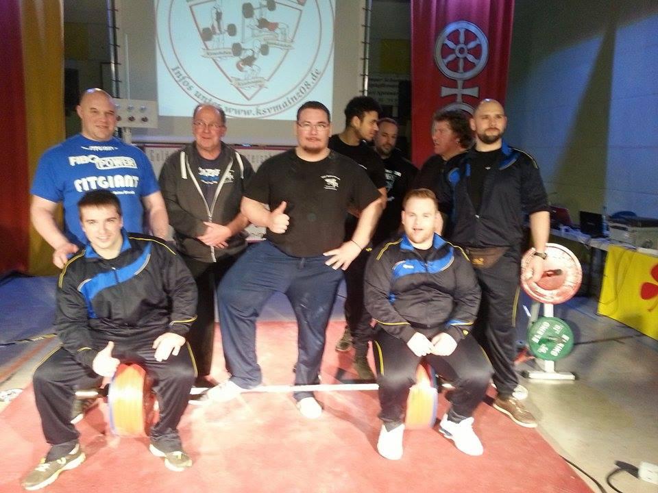 Tabellenführer nach der 1.Runde der Powerlifting Bundesliga:  KSV Mainz ( Foto: D.Keil )