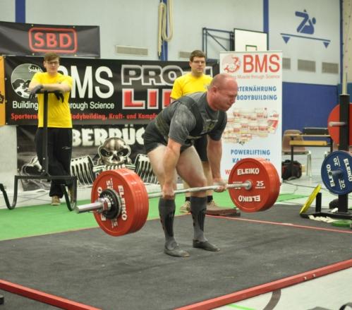 Konrad Burghardt (ACS Darmstadt)  war bester Heber in der Relativwertung. Er erzielte 822,5 kg im Total. ( Foto T.Demkowsky)