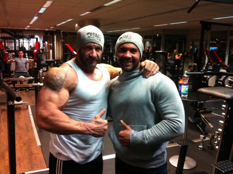 Sergej mit seinem Trainingspartner Marco Höss