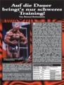 Auf die Dauer hilft nur schweres Training! Von Berend Breitenstein